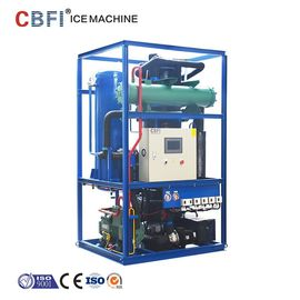 China Bitzer Compressor Ice Tube Machine For Tube Ice Making Process factory