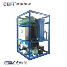 China Edible Grade Ice Tube Machine For Cooling Cola And Orange Juice 5000kg Capacity Per Day factory