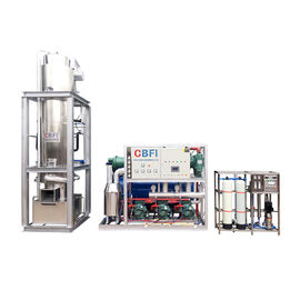 Large Capacity 1~30 Tons Per Day Ice Tube Machine With Stainless Steel Evaporator