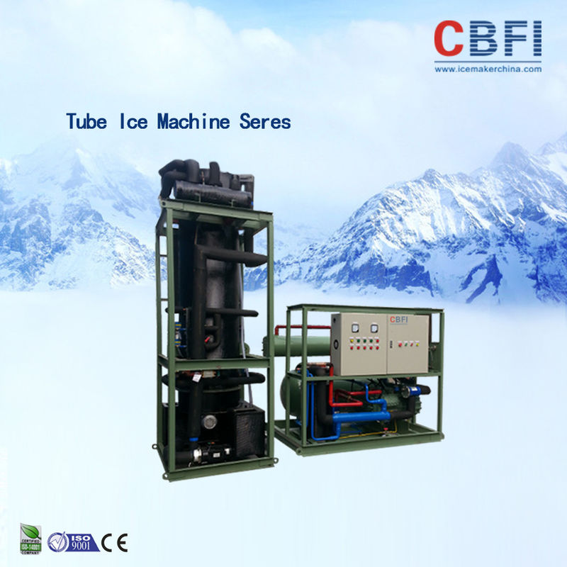 30 Tons Tube Ice Machine Siemens PLC Control System Ice Tube Making Machine