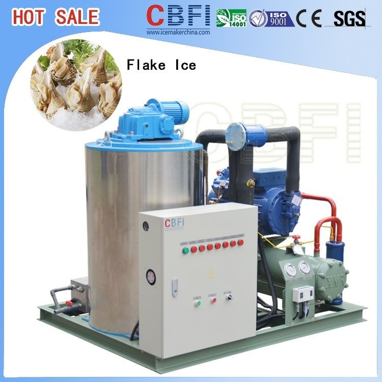 1 Ton 2 Tons 3 Tons 5 Tons Flake Ice Maker , Commercial Grade Ice Machine  supplier
