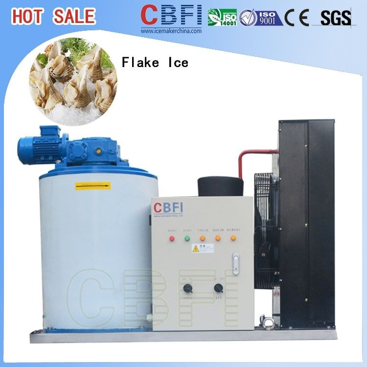 Industrial 1 Mm To 2 Mm Flake Ice Maker Machine For Fishery Cooling  supplier