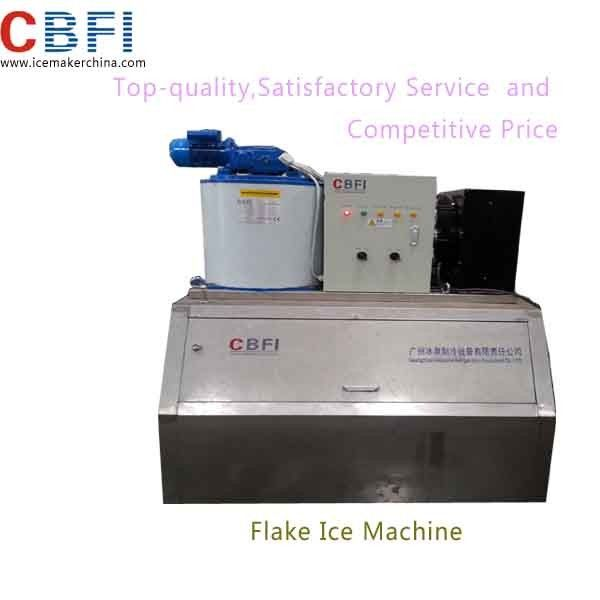 1000kg Capacity Air Cooled Small Flake Ice Machine For Home With Imported Compressor supplier