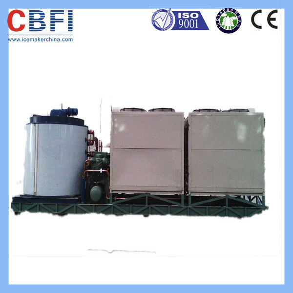 1 Mm To 2 Mm Flake Ice Machine / Flake Ice Making Machine For Fishery Meat Cooling  supplier