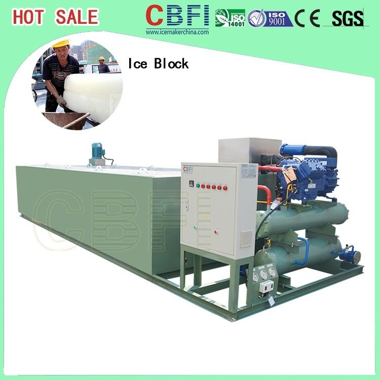 Germany Bitzer Compressor Ice Block Machine With PLC Controller supplier