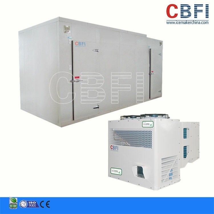 50HP Screw Type Doube-Stage Commercial Blast Freezer Air Water Cooling supplier