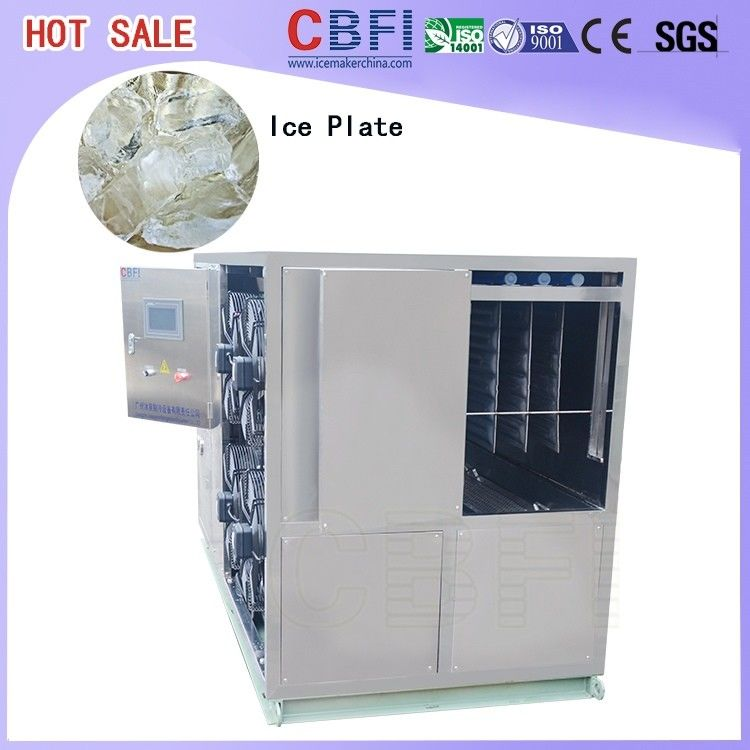 1 Ton To 50 Tons Per Day Plate Ice Maker , Commercial Ice Making Machine For Freezing Seafood supplier