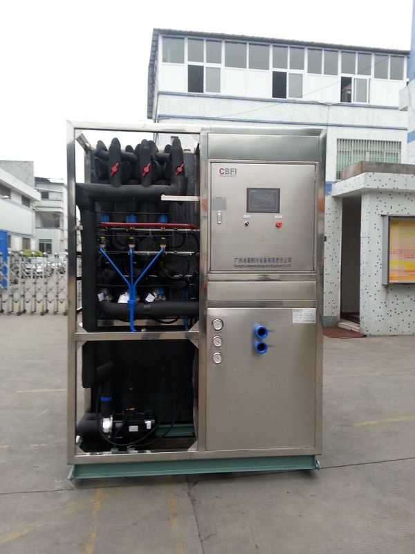 R22 / R404a Refrigerant Industrial Ice Maker Machine , Air Cooled Ice Maker supplier