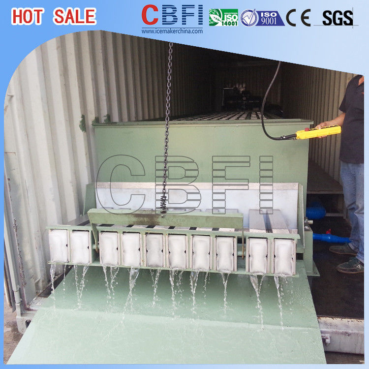 Energy Saving Containerized Block Ice Machine ,  Ice Block Maker 5 Kg - 25 Kg supplier