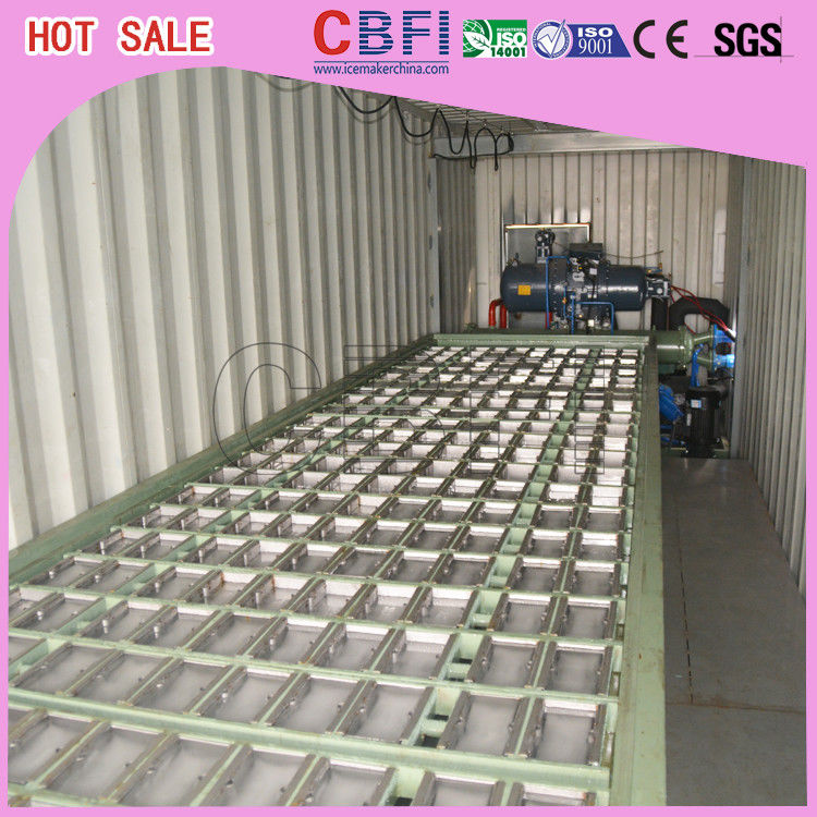 1 ~ 12 MT Daily Capacity Container Industrial Ice Block Making Machine For Supermarkets supplier