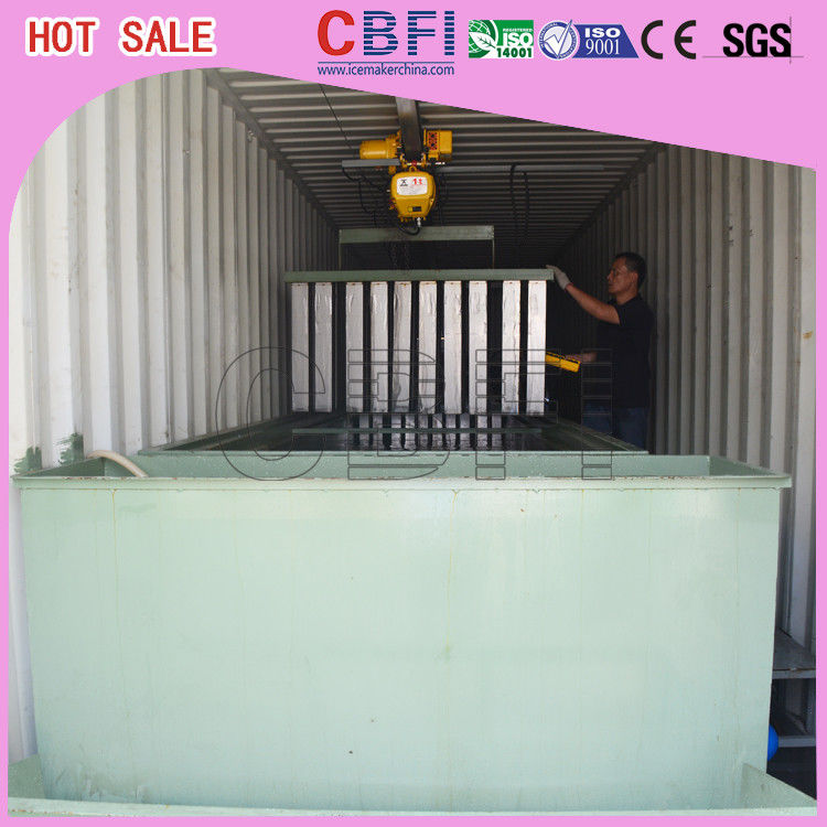 Restaurants Bars Containerized Block Ice Machine Low Electric Power Consumption supplier