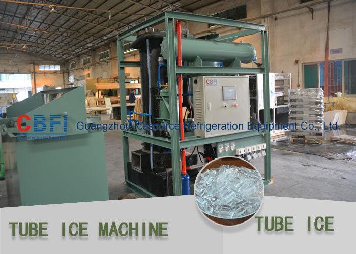Hollow Edible Tube Ice Maker Daily Capacity 1 Ton - 30 Ton Tube Ice