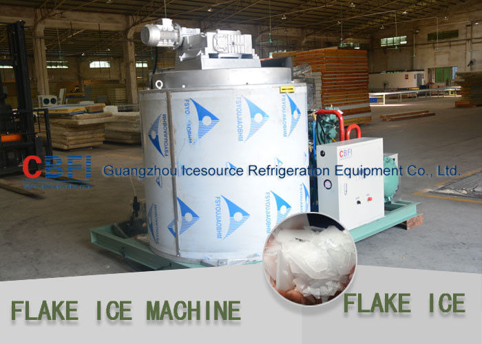 Stainless Steel Evaporator Flake Ice Machine Commercial For Aquatic / Meat Freshing supplier