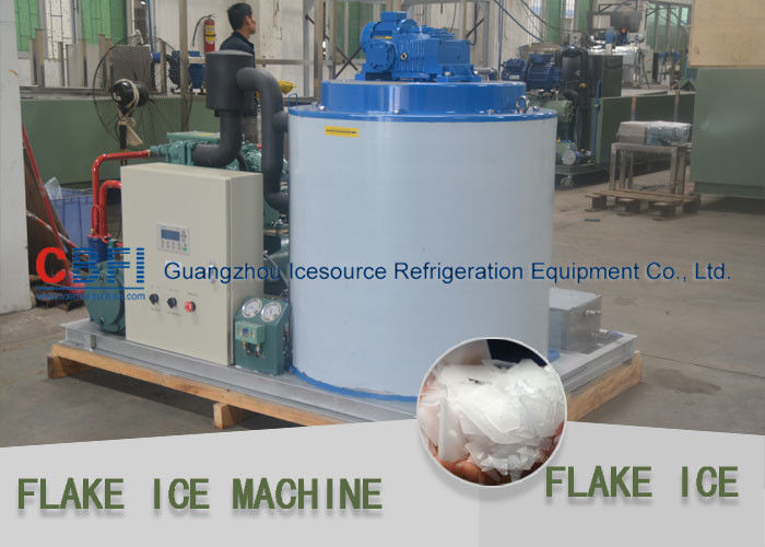 Water Cooled 5 Ton Flake Ice Machine With Bitzer Compressor PLC Control supplier
