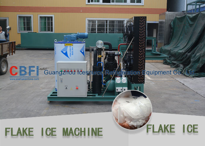 Different Capacity 500kg - 30000kg Flake Ice Maker Air Cooled / Water Cooled supplier