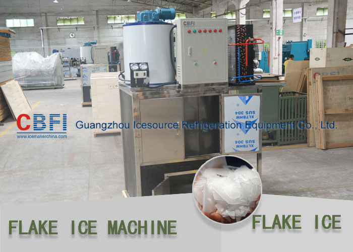 Fish / Keep Fresh Cooling Flake Ice Machine Work With Cold Room 1 Phase -  3 Phase supplier