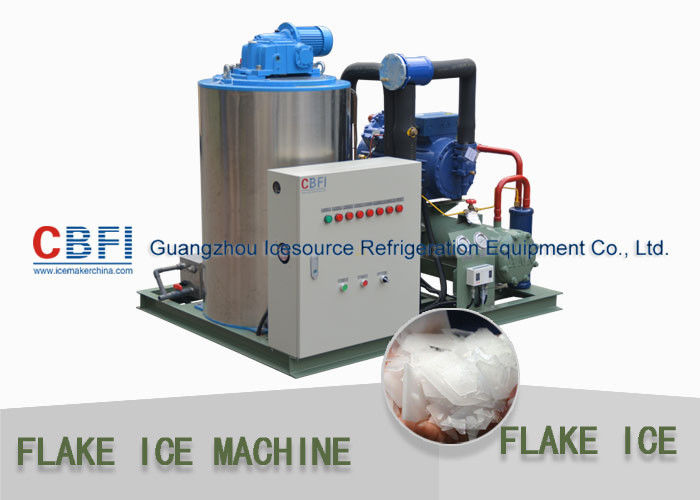 Fast Industrial 1 Ton Flake Ice Making Machine For Fish Fresh Keeping supplier