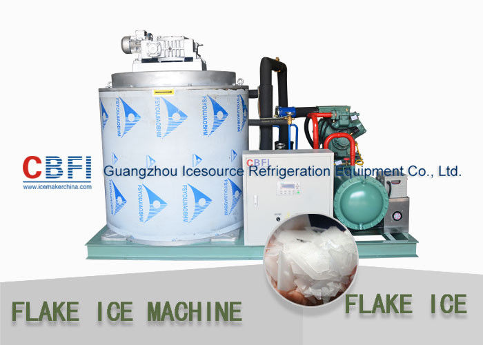 CBFI Containerized 10 ton/Day Flake Ice Machine Air Cooling / Water Cooling