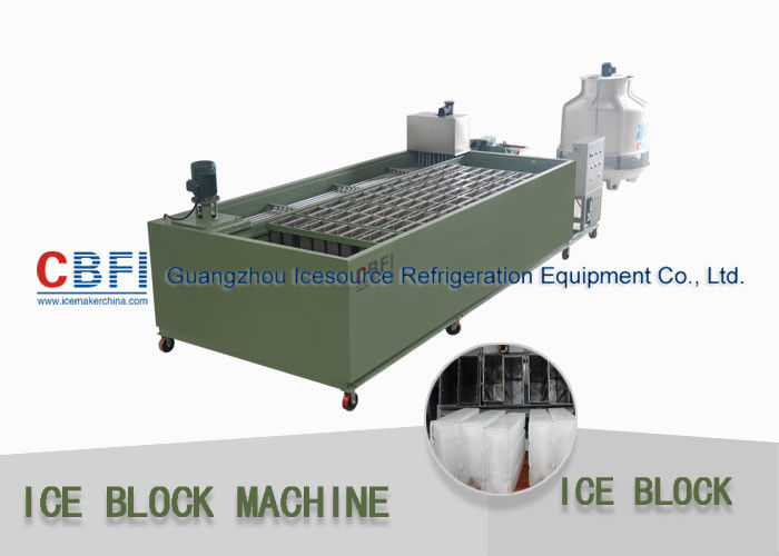 Philippines Block Ice Maker 5.2 Ton / 24 Hrs Industrial Ice Block Making Machine supplier