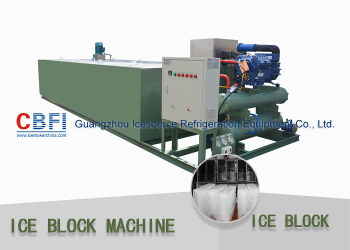 R22 / R404a Refrigerant 5 Ton Per 24 Hrs Ice Block Making Machine For Ice Business supplier