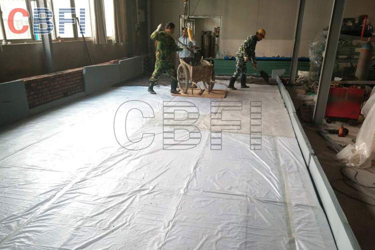 10 tons block ice machine shelf brine tank crane system for Ice block construction