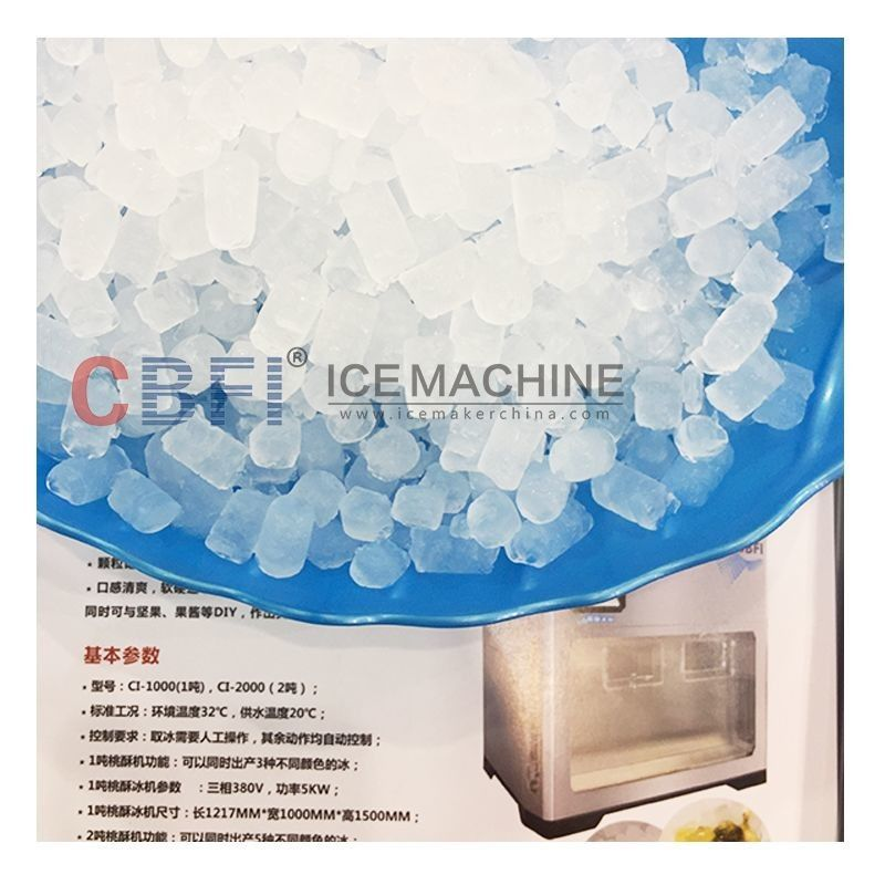 304 Stainless Steel Easy Control 1 ton Edible Commercial Ice Machine supplier