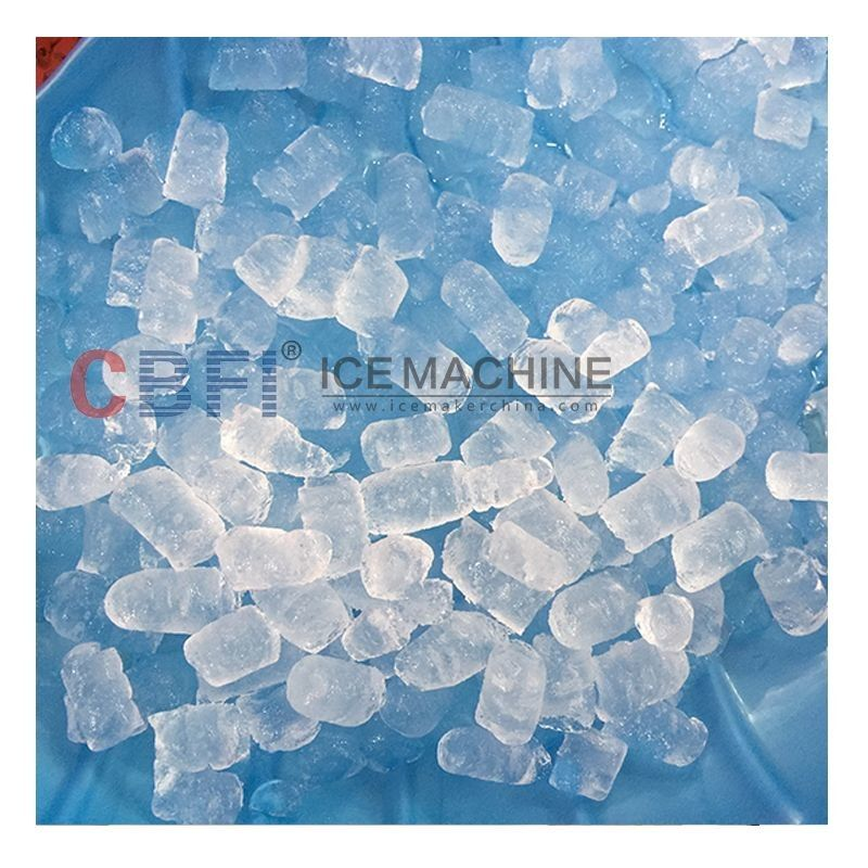 Large Capacity Energy Saving Crispy Ice 2 tones Edible Ice Cube Machine / Pellet Ice Maker supplier