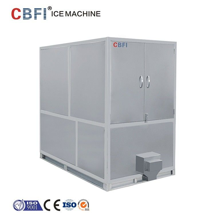 1000kg Air Cooled Ice Cube Machine With Germany Bitzer / R22 Refrigerant supplier