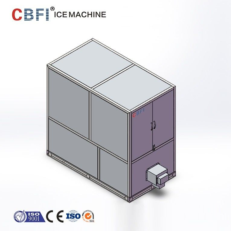 1 Ton Industrial Automatic Edible Large Ice Cube Maker With CE Certificate supplier