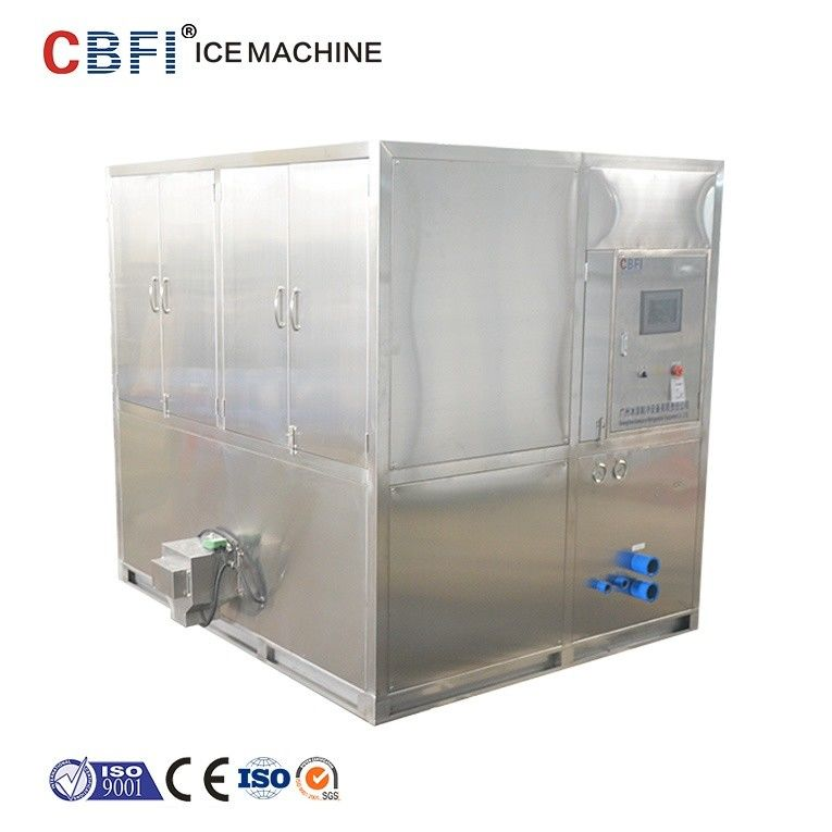 Water Cooled 2 Tons Square Cube Ice Maker for Food Grade Plant supplier