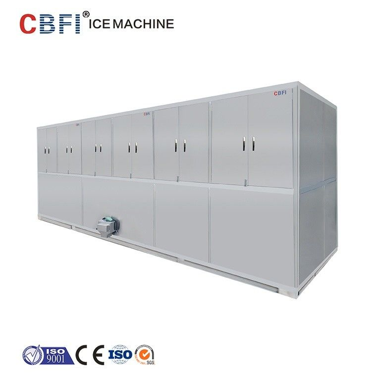 Automatic 10 Tons Cube Ice Maker 304 Stainless Steel For Completed Frame supplier