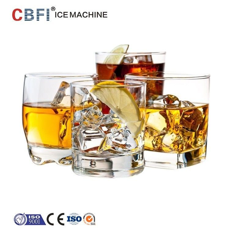 Party Ice Cube Machine For Bar , Compact Commercial Ice Maker supplier