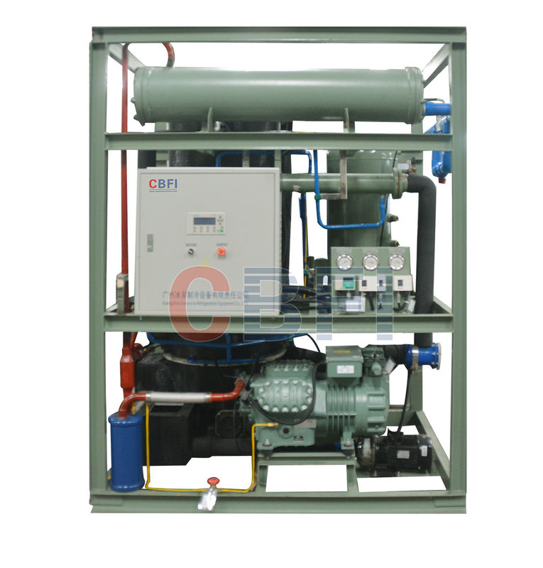R404A Refrigerant 5 Ton Tube Ice Machine With Stainless Steel Evaporator supplier