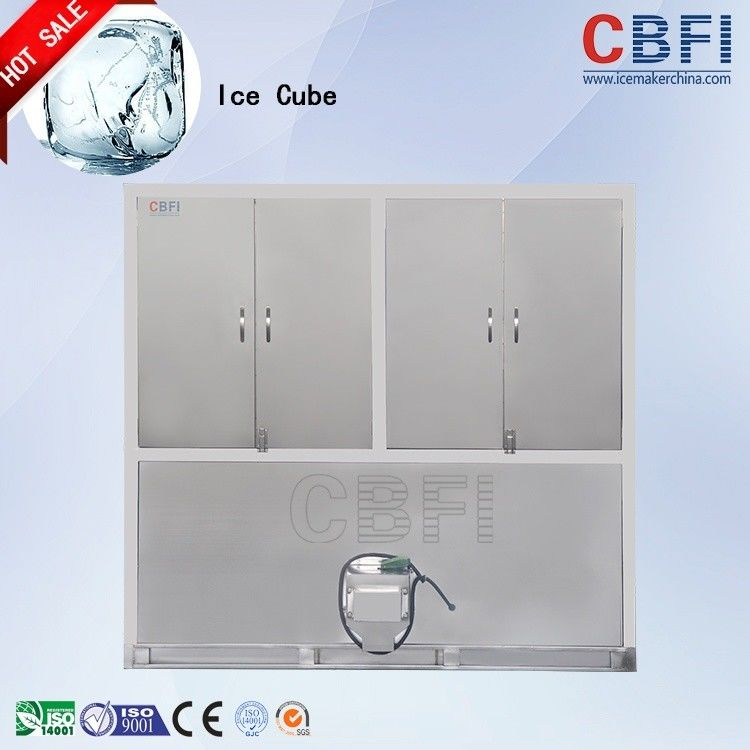 CBFI 1 - 20 ton Stainless Steel Ice Cube Maker Machine For Food Processing factory supplier