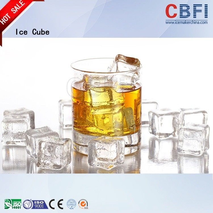 Professional Ice Cube Machine / Commercial Ice Maker 22*22*22mm supplier