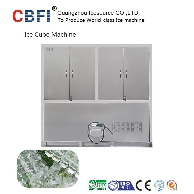 304 Stainless Steel Industrial Ice Cube Making Machine R22 Refrigerant supplier