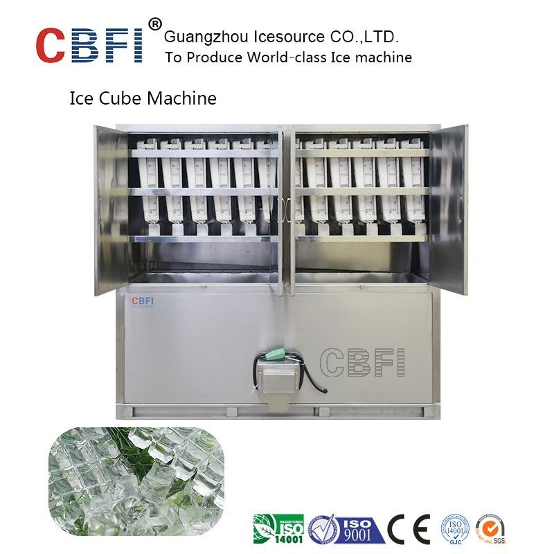 Large 20 Tons Edible Ice Cube Machine With r22 Gas For Beverage Shop supplier