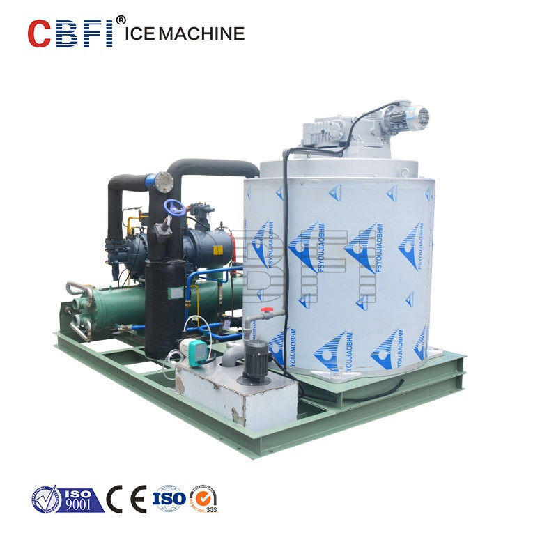 25 Hp Semi Hermetic Compressor Flake Ice Machine -5℃ ice temp 5 ton / day supplier