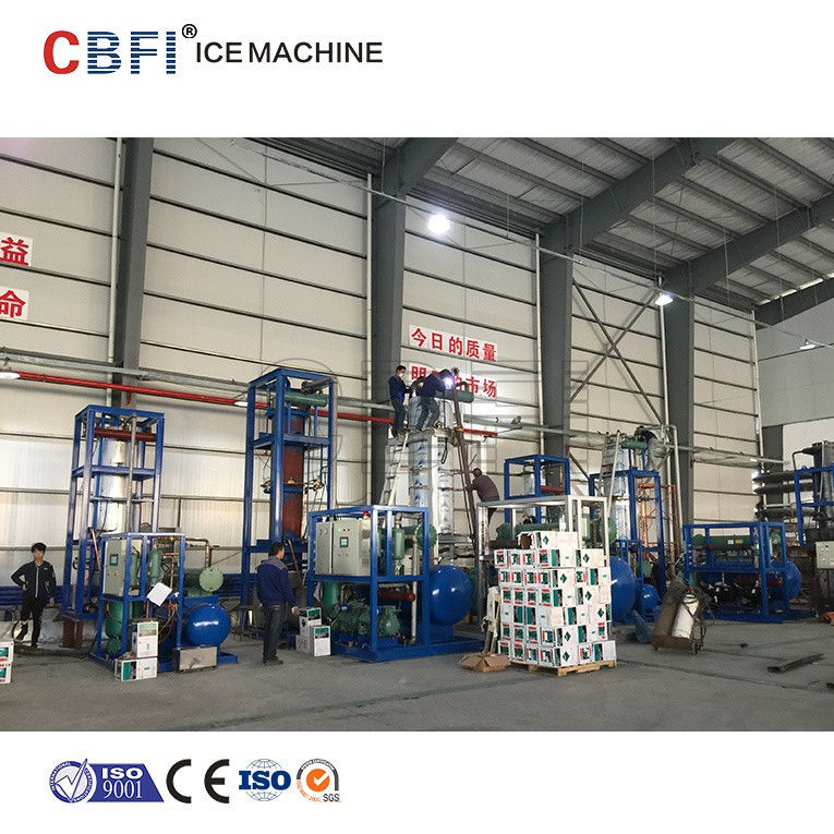 CBFI Freon System 30 Ton Ice Tube Machine With Semi Hermetic Compressor supplier