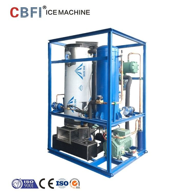 High Output Tube Ice Machine For Fast Food Shops / Supermarkets / Bars supplier