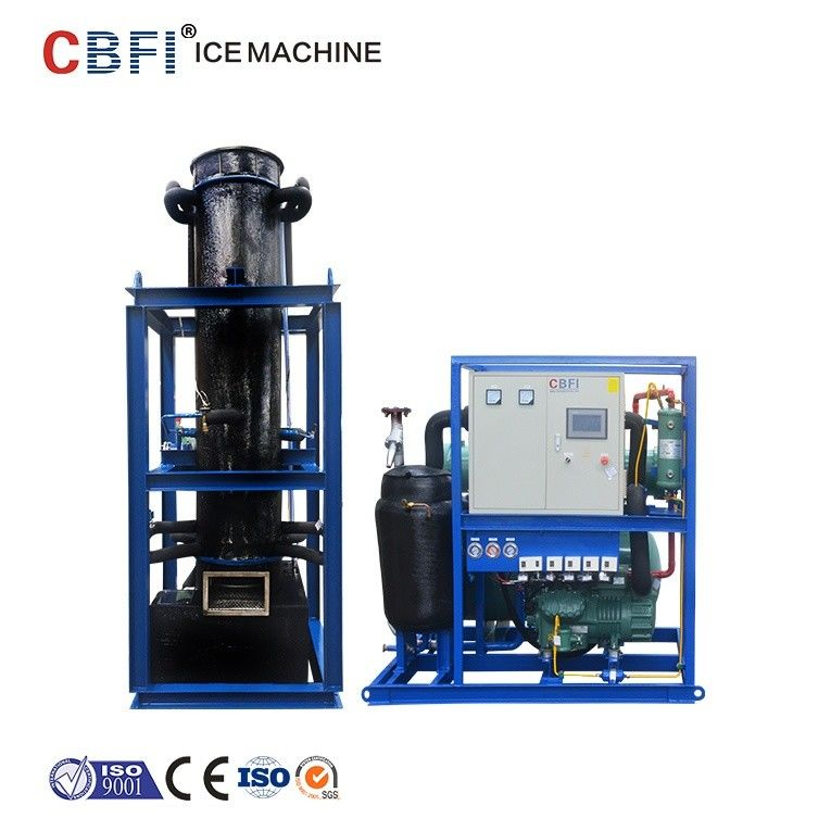 R404a Refrigerant Seperated Unit Ice Tube Machine with Satinless Steel Evaporator supplier