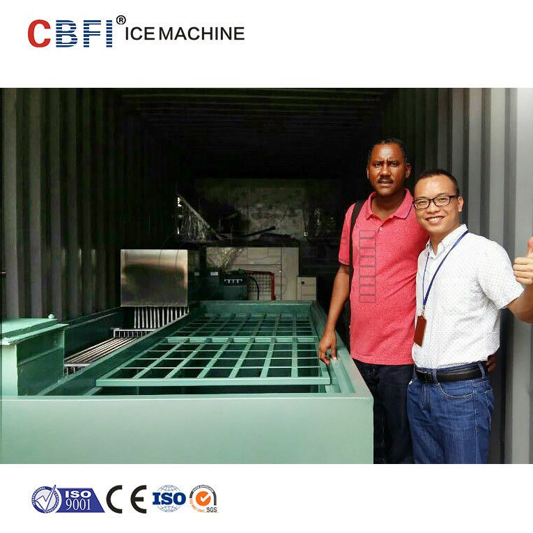 Commercial Containerized Block Ice Machine Big Containerized Block Ice Plant supplier