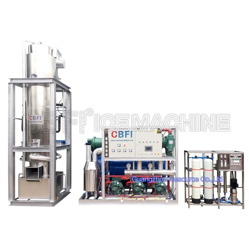 Freon System Edible Ice Tube Machine 12 Months Warranty 380v 50hz 3p