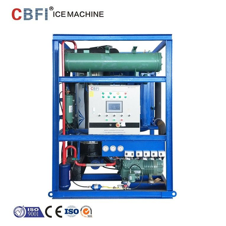 5 Tons Tube Ice Maker With Bin / CBFI Freon Refrigeration System supplier