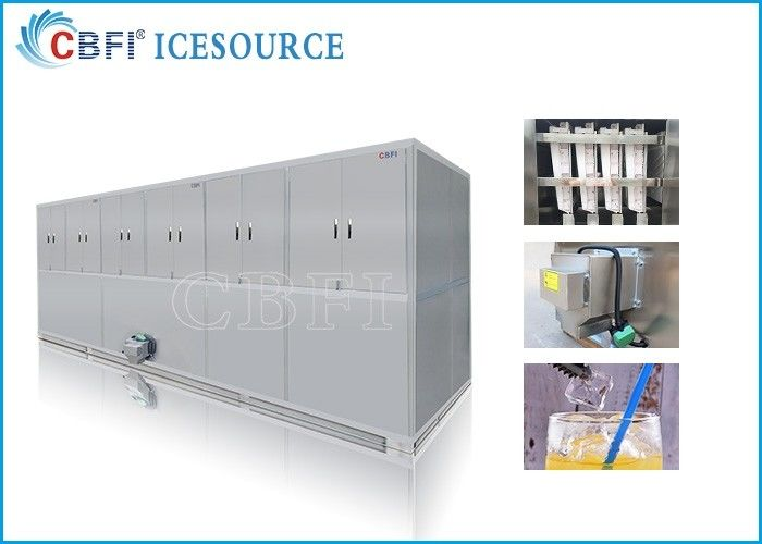 10 tons Easy Operation Edible Ice Cube Making Machines Large Production supplier