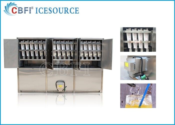 5 tons Commercial Ice Maker Machine / Ice Cube Equipment With 500 Kg Ice Storage Bin Capacity supplier