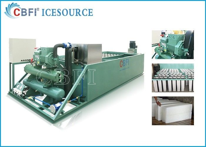 Evaporative / Air / Water Cooled Ice Machine , Automatic Ice Machine Large Production supplier