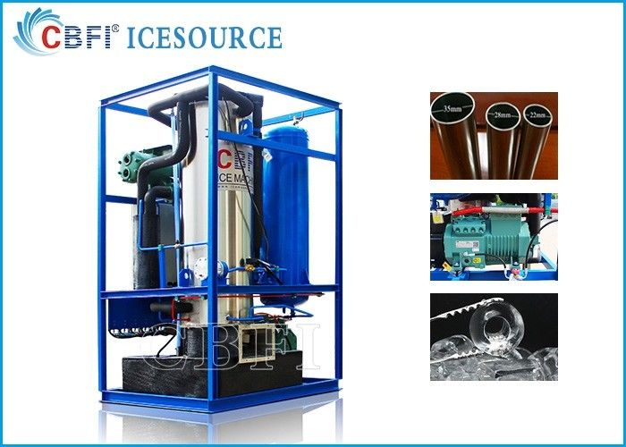 5 Ton Edible Tube Ice Machine With Ice Bin For Restaurants / Bars  / Hotels supplier