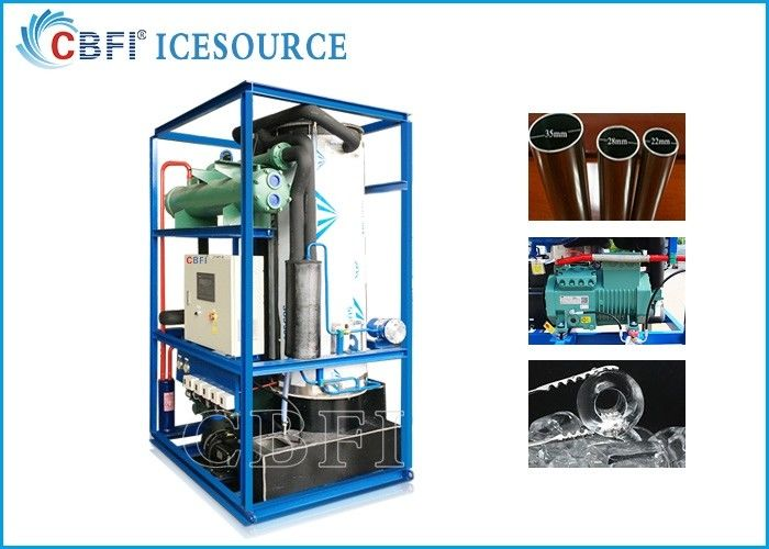 CBFI Inductrial 3 Ton Ice Tube Machine Water Cooling With Bitzer Compressor supplier