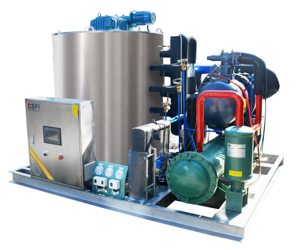 CBFI BF10000 10 Tons Per Day Seawater Type Flake Ice Machine for Aquatic Goods & Docks supplier